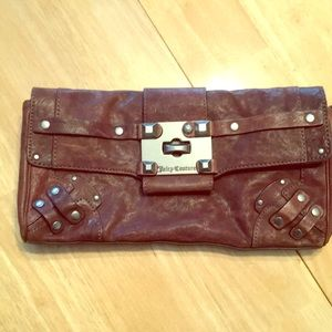Perfect condition juicy couture leather clutch